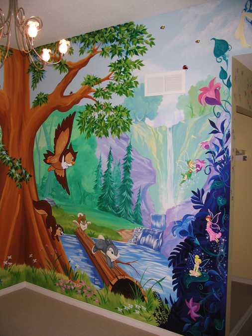 Tree and forest themes mural magic for Enchanted forest mural