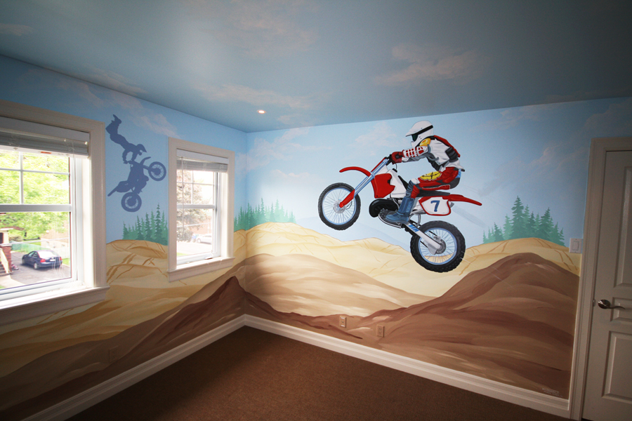 All about dirt bikes on pinterest dirt bikes suzuki for Dirt bike wall mural