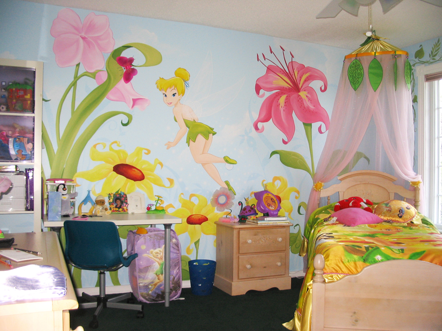 princess and fairie themes mural magic jl1279mdisney fairies pixie hollow pre pasted xl wallpaper