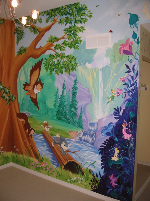 Tree and forest themed murals mural magic for Enchanted forest bedroom wall mural