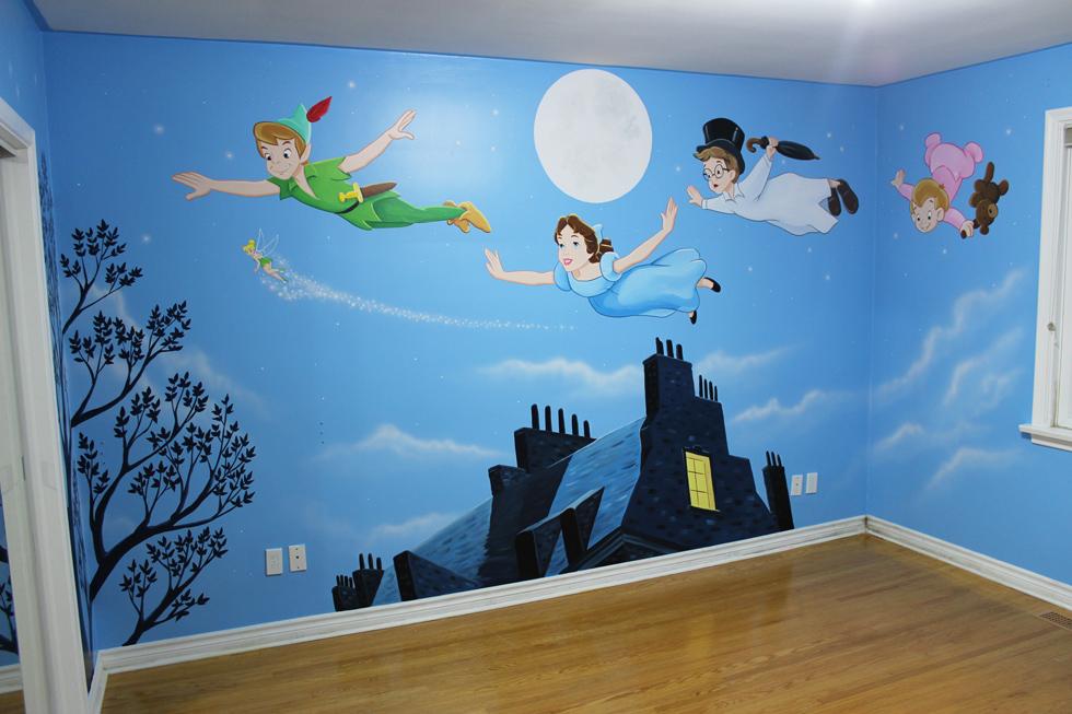 Fun cartoon character themed murals 1 mural magic for Character mural