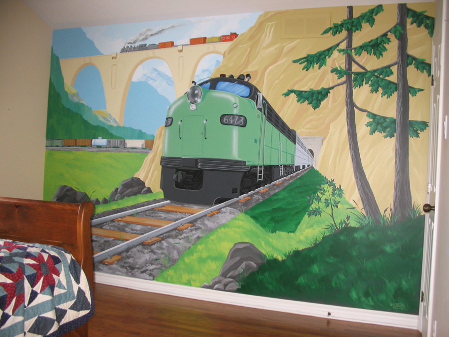 Wonderful Plane And Train Themed Murals Part 32