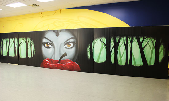 Academy of Dance Back Drop Mural.