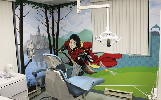 Harry Potter Mural in Dentist office