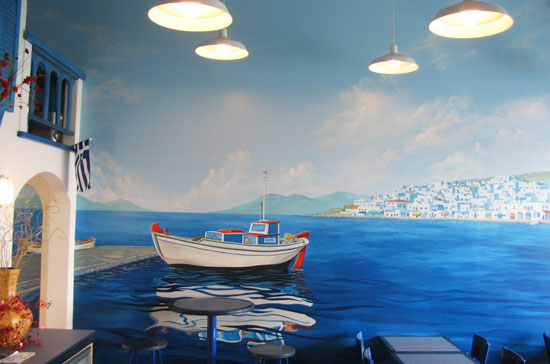 Papa Pete's Greek Eatery Mural