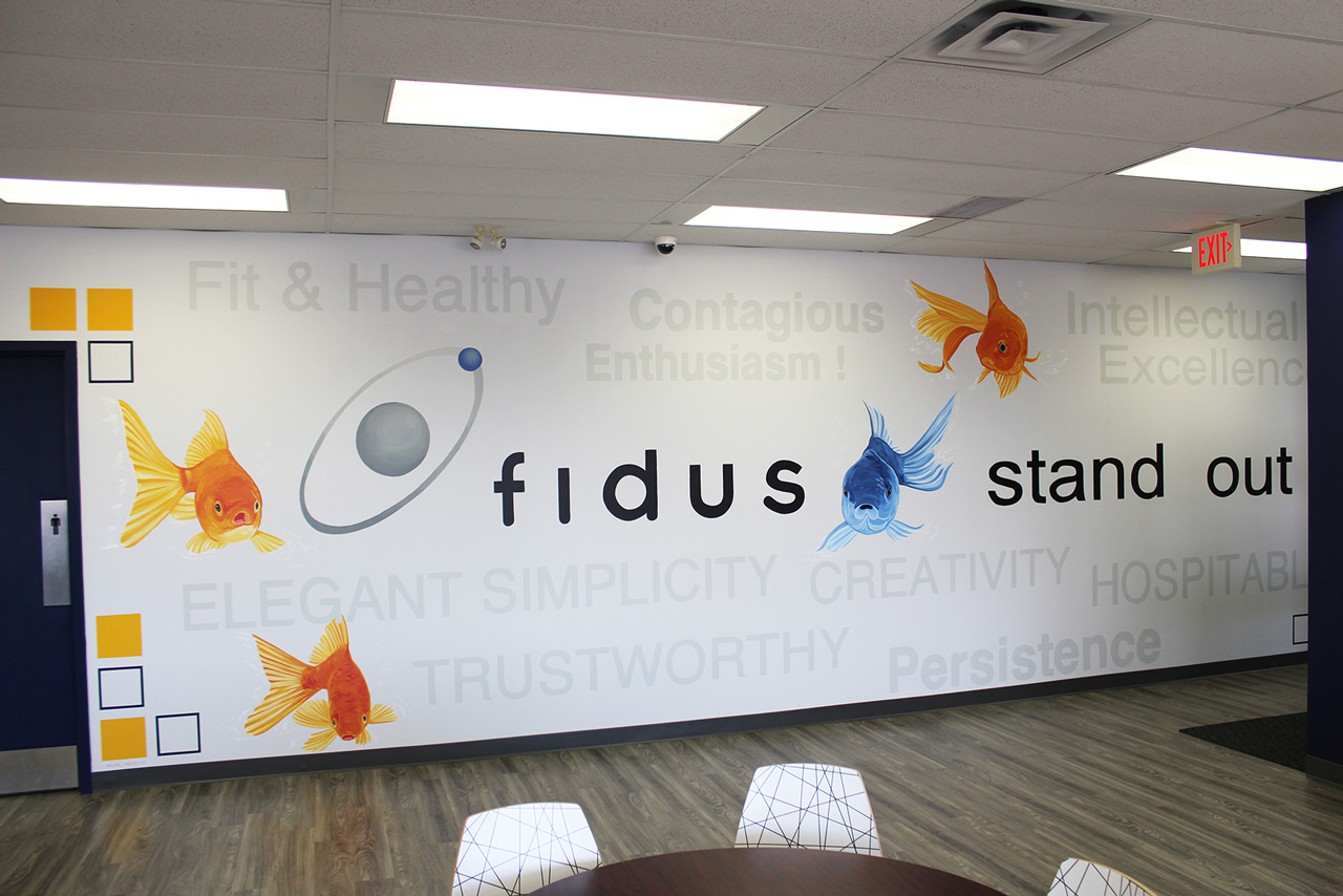 Fidus Mural in Lunchroom